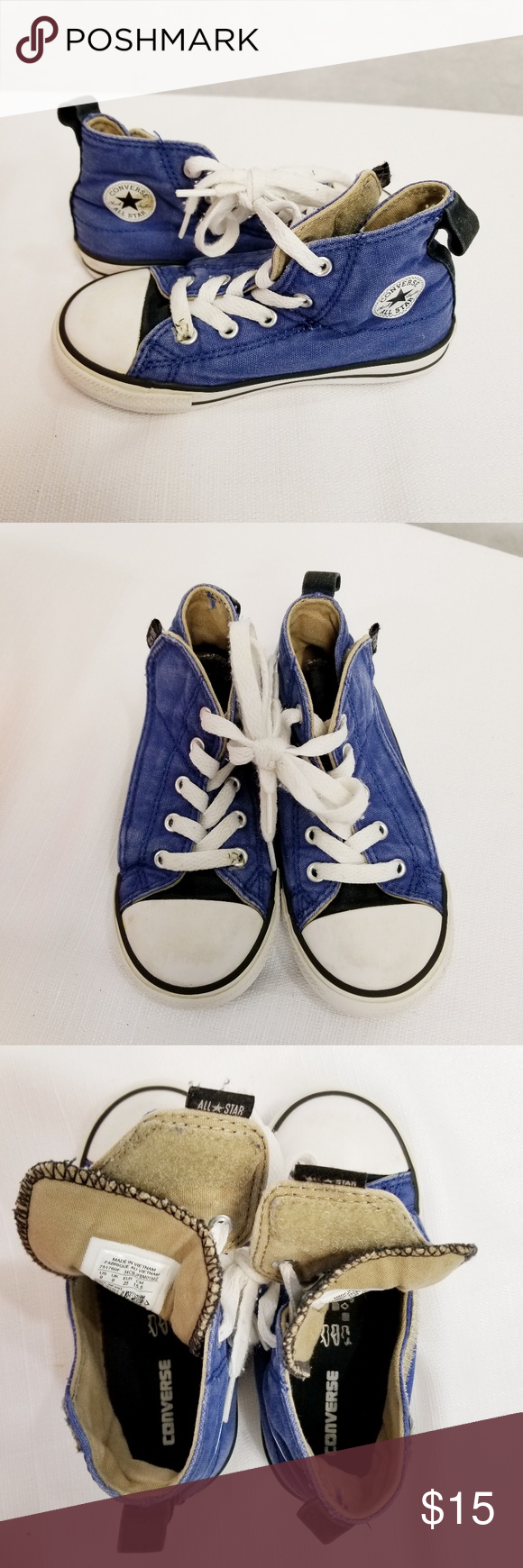 6a3b6791d19f Little Kid s Converse All Star Velcro Hi-Tops Easy on off Velcro closure  Converse