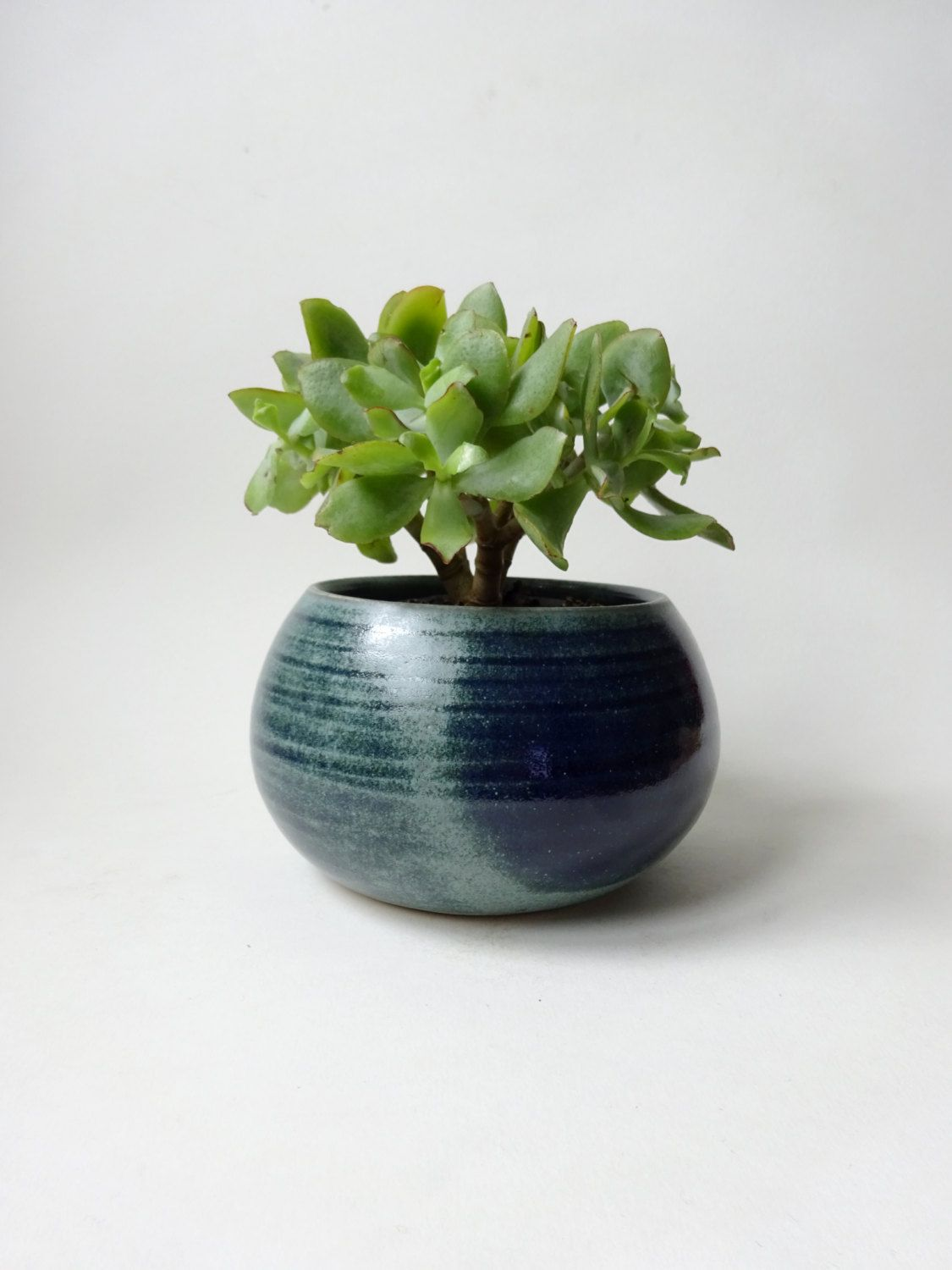 Blue Green Vase Pot For Plants Handmade Ceramic Succulent And Small By Viceramics On Etsy