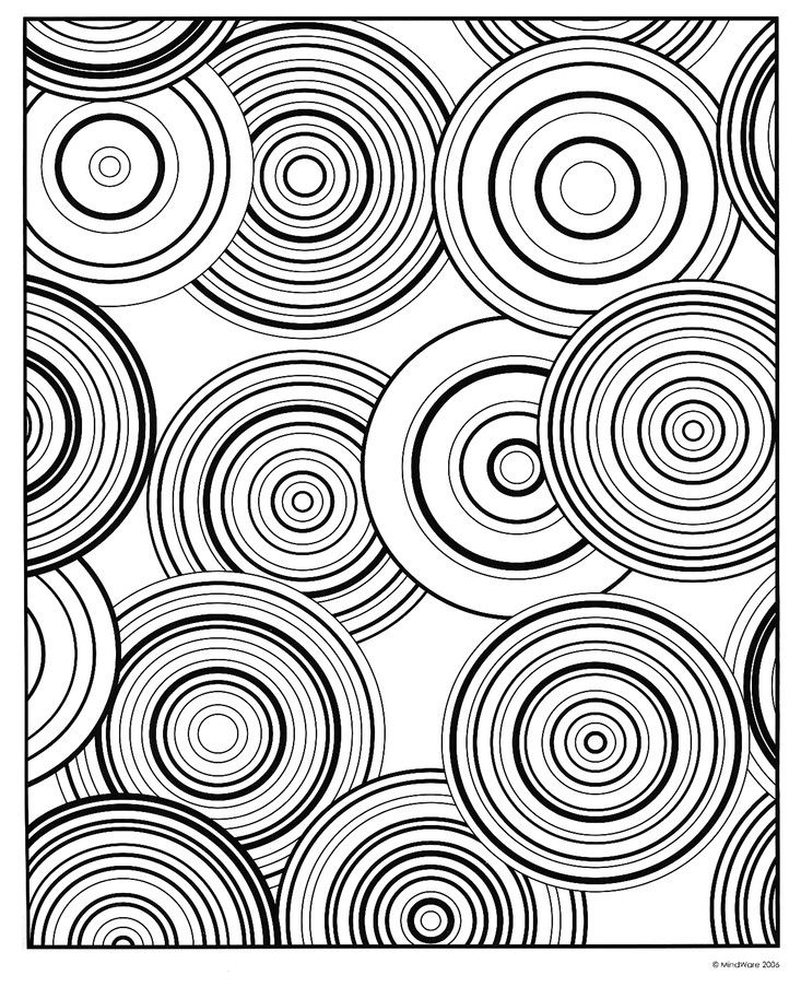 Modern Patterns: Circular Coloring Book by MindWare | Coloring pages ...