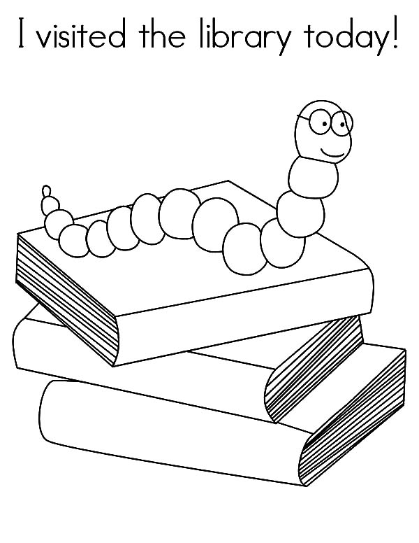 I Love My Library Coloring Page Library Week Coloring Pages Library Activities