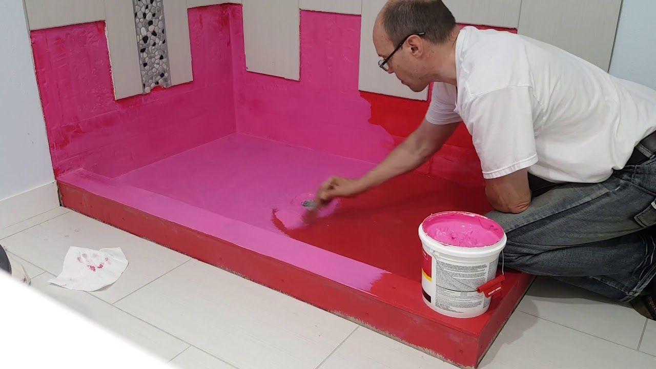 RedGard Waterproofing Membrane. Гидроизоляция пола душевой ...