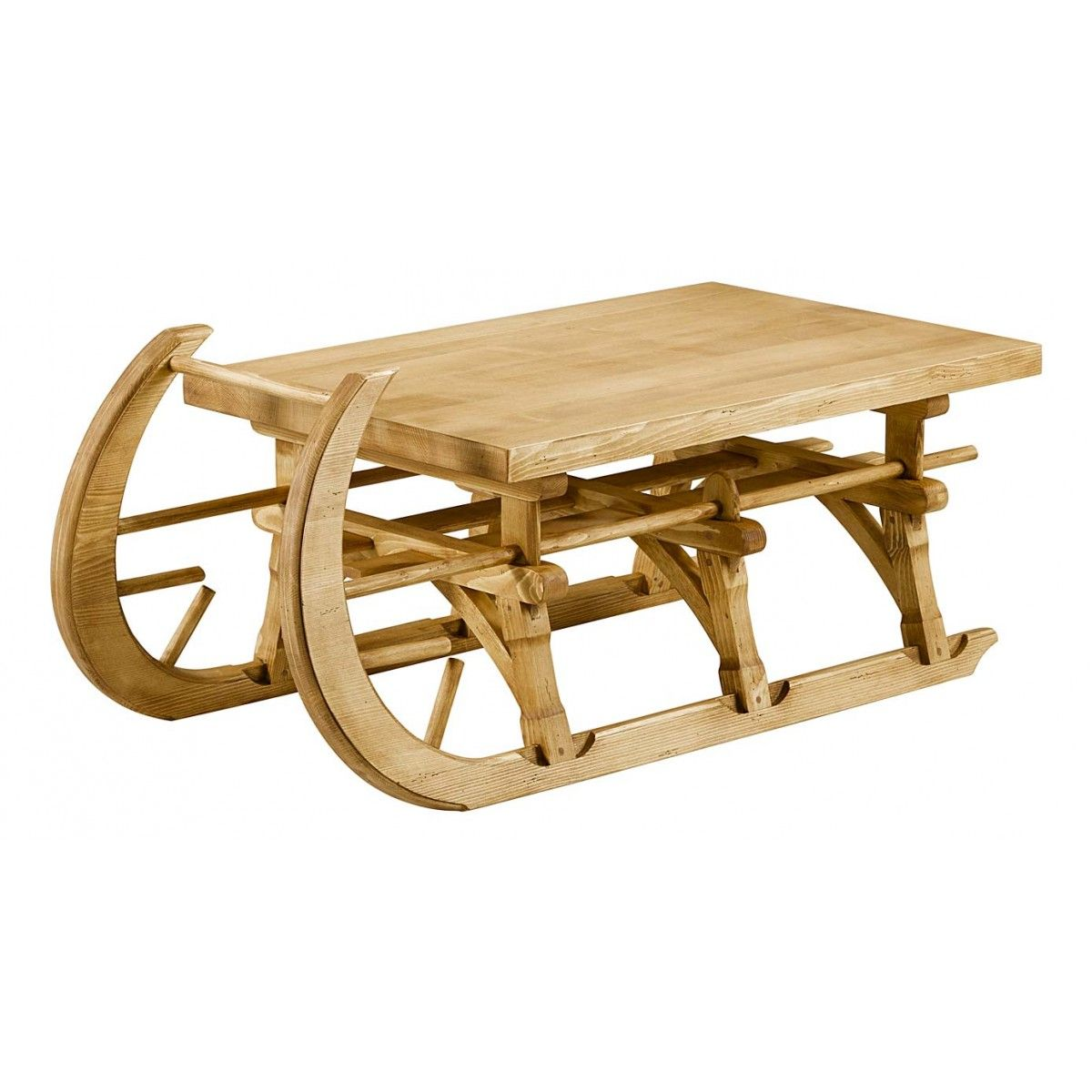 table basse luge pin bois id es cadeaux de no l meubles et d co ga pinterest table basse. Black Bedroom Furniture Sets. Home Design Ideas