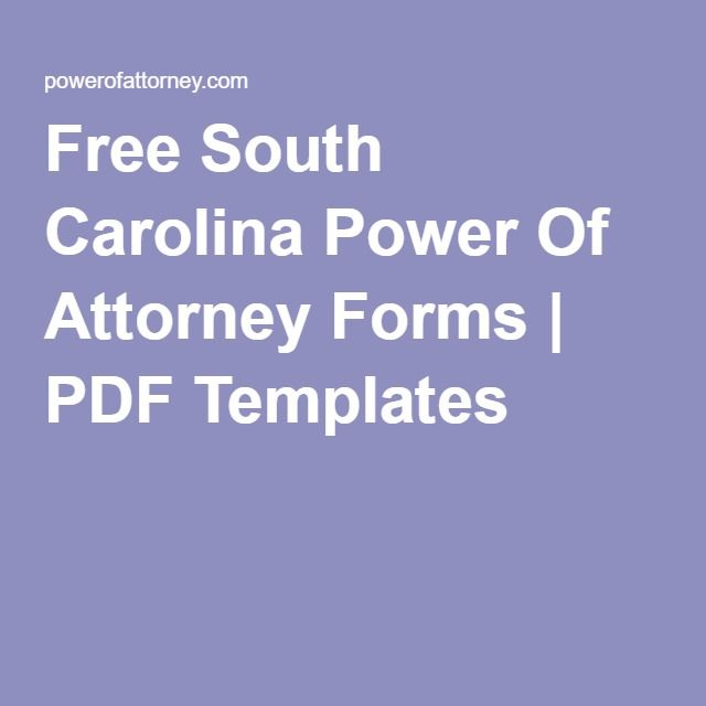 Free South Carolina Power Of Attorney Forms PDF Templates - durable power of attorney form