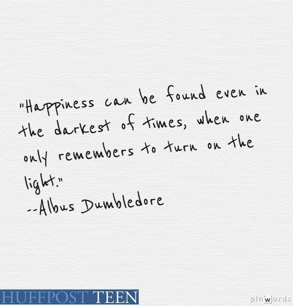 'Harry Potter' Quotes: 10 Comforting Words Of Wisdom From Albus Dumbledore | HuffPost