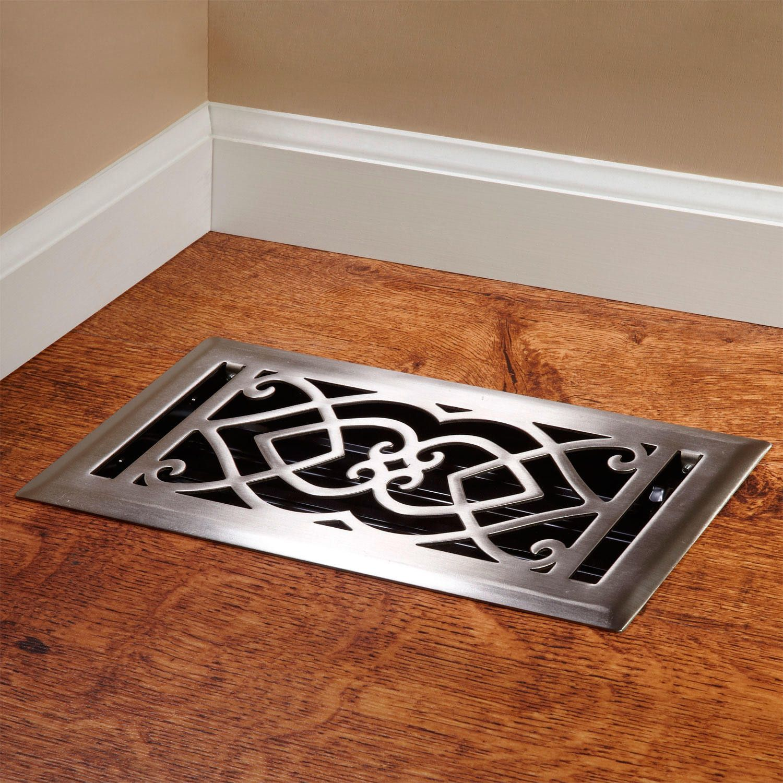 Victorian Steel Floor Register Signature Hardware Flooring Style Homes Renovation