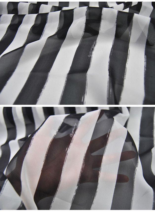 100% Seide Georgette Stoff mit Streifen Muster | Pinterest ...