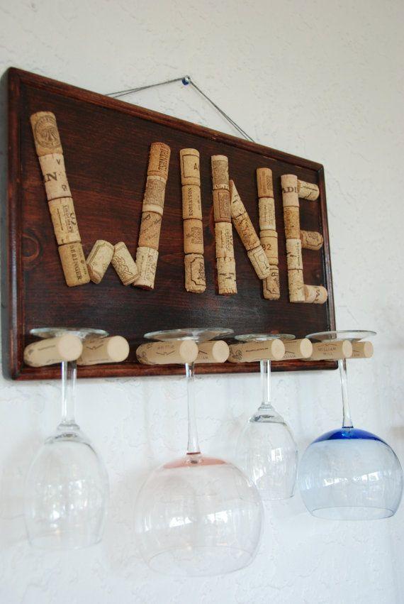 Ähnliche Artikel wie Dekorative Glas Wein Halter auf Etsy