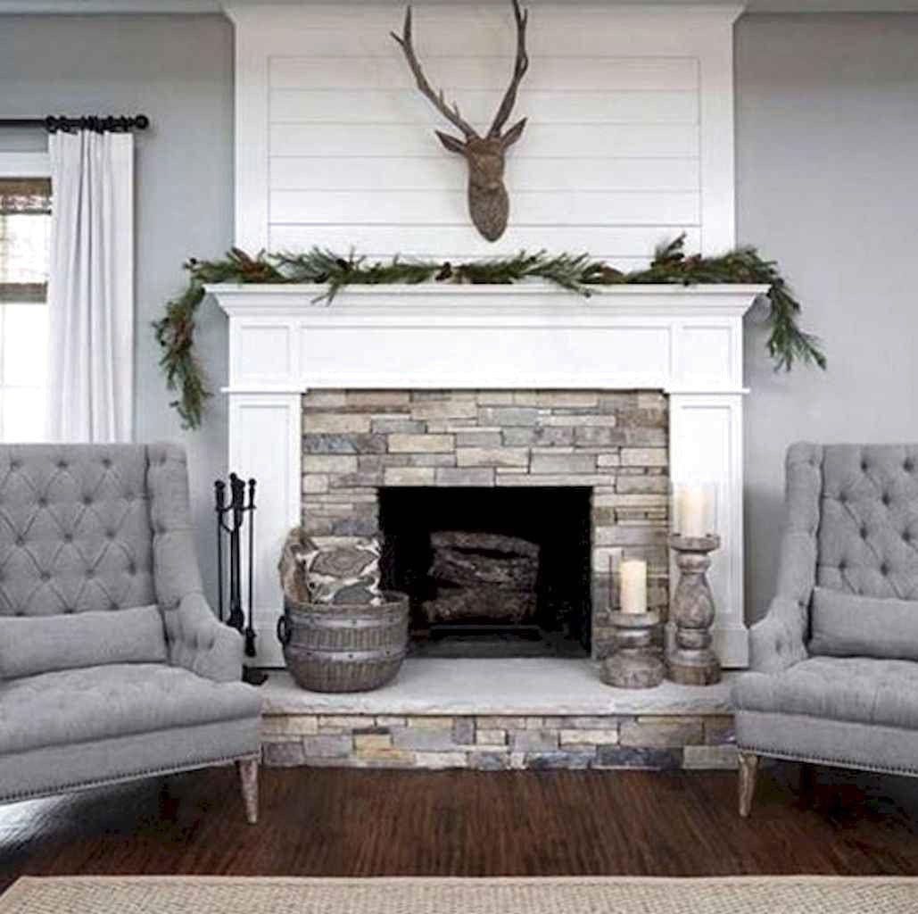 Photo of 40 Awesome Farmhouse Kamin Dekor Ideen und umgestalten #FireplaceDecor