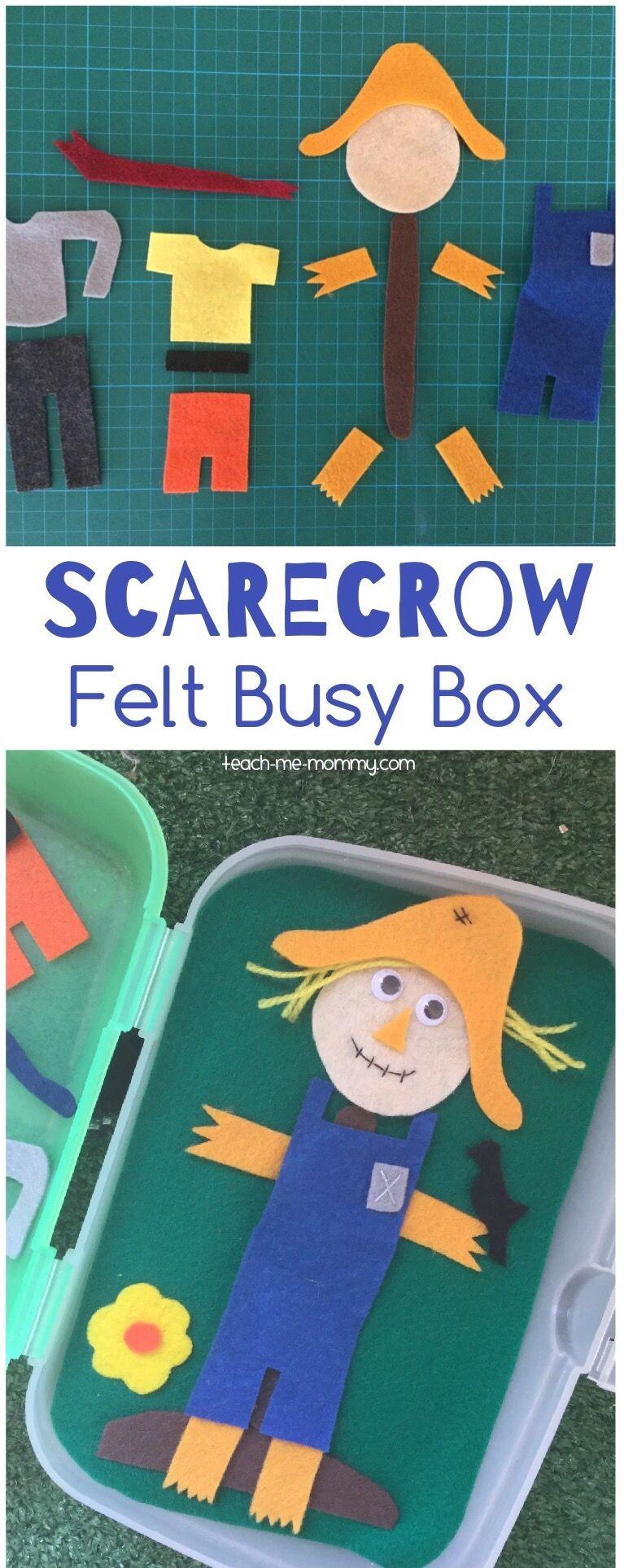 Scarecrow Busy Box   Busy boxes, Fall preschool, Toddler ...