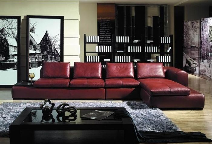 Living Room Ideas With Maroon Couch Decorating Burgundy Leather Sofa Furniture