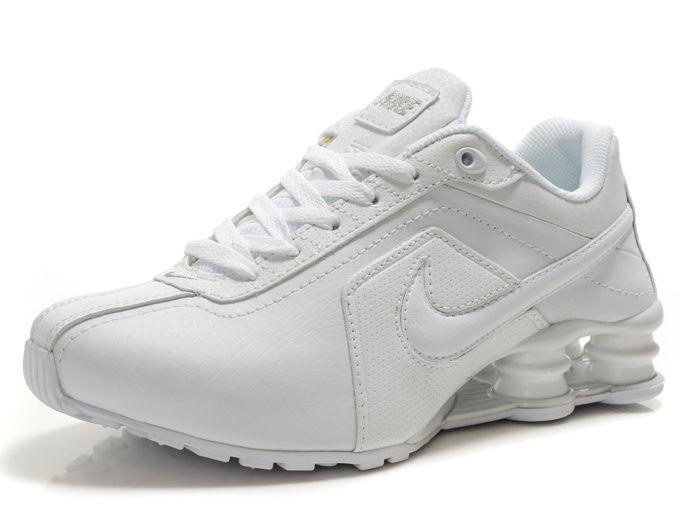 Nike Shox R4 Women's Running Shoes - Full White http://amzn.to