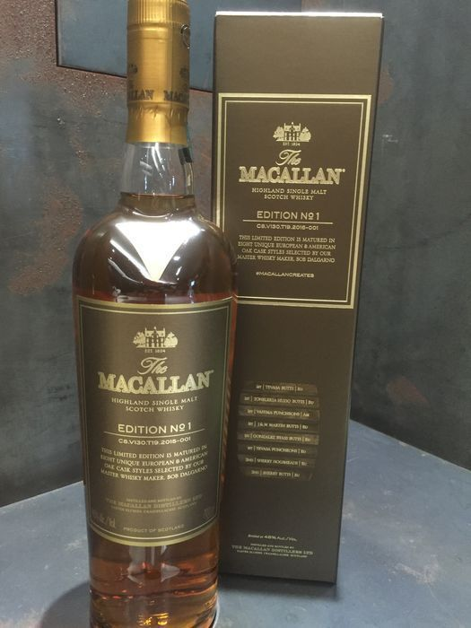 macallan edition no 1 how many bottles