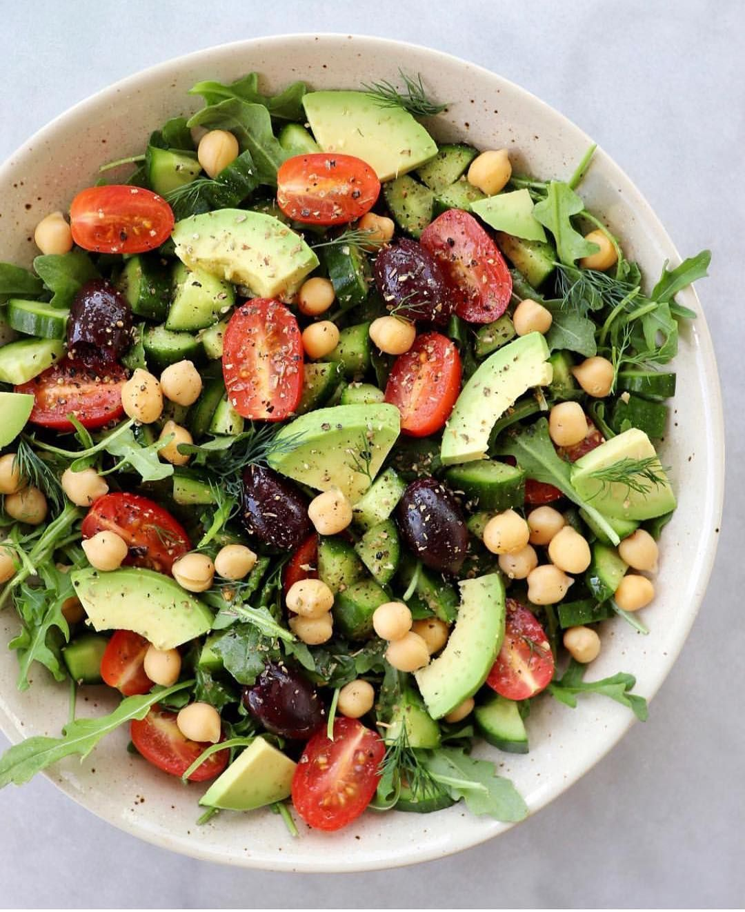 Vegan Recipes On Instagram Mediterranean Inspired Salad
