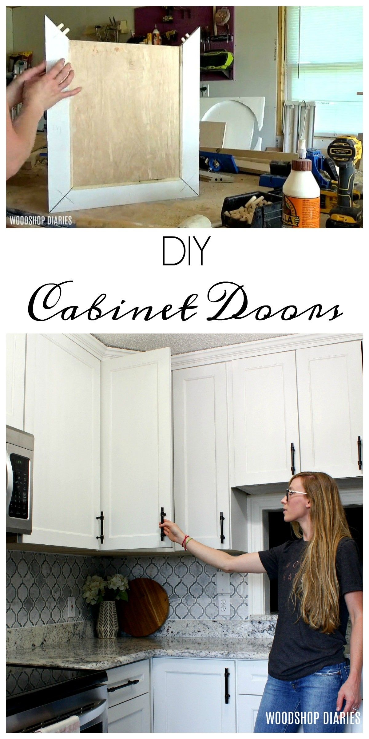 How To Make Diy Cabinet Doors Without Fancy Router Bits In 2020 Diy Cabinet Doors Diy Cabinets Building Kitchen Cabinets