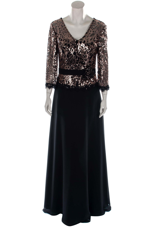 Unique kleid lang schwarz