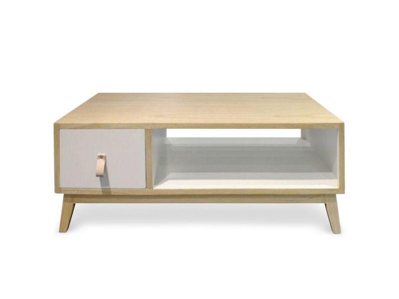 Table Basse Avec Tiroir Style Scandinave Fjord Blanc Vente De Menzzo Conforama Table Basse Table Basse Tiroir Decoration Maison