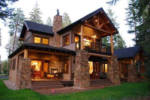 Mountain Lodge | Elegant Lodge Style Craftsman (HWBDO14533 ...