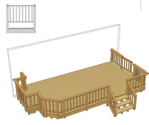 20 X 12 Deck W Two Stairs And Grill Bump Out At Menards Decks Backyard Deck Renovation Patio Projects