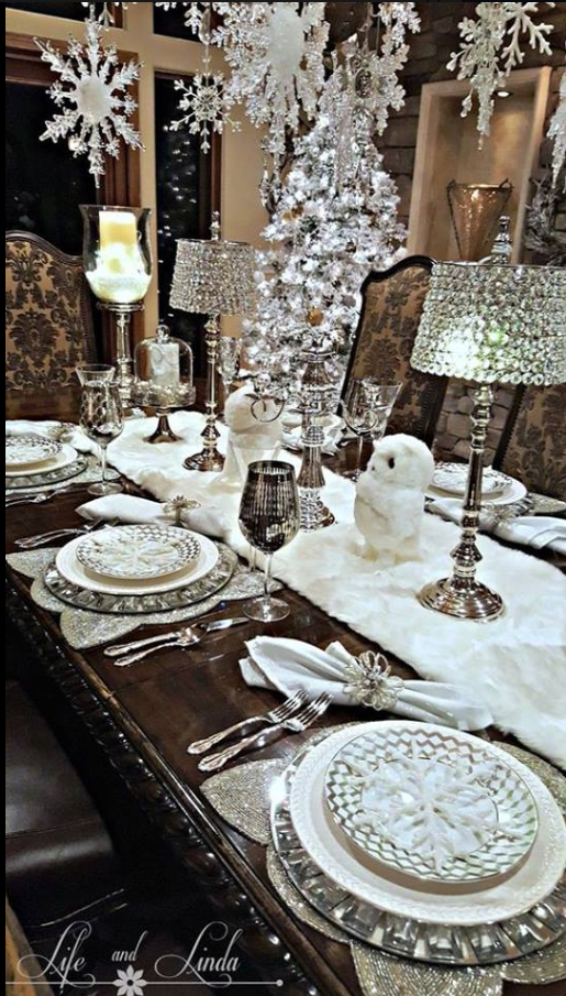 The Chic Technique Silver And White Christmas Winter Table Setting