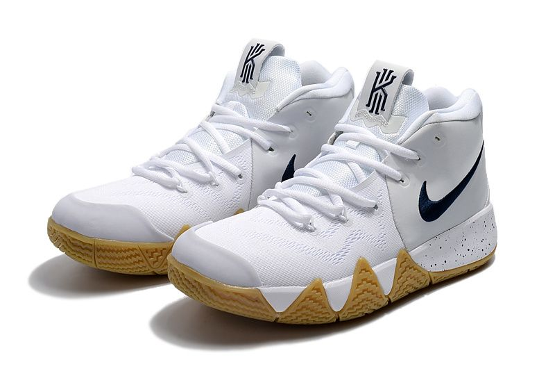 huge selection of 338e4 2323e Nike Kyrie 4 White and Gum color Blue Cheap Kyrie Shoes 2018