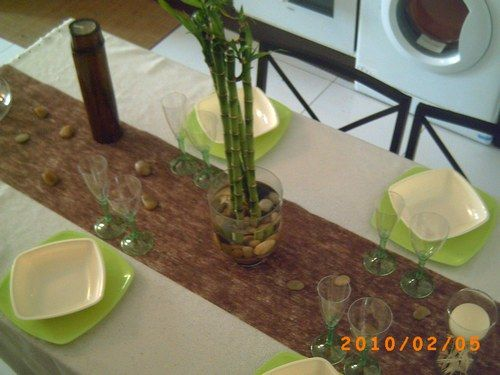 Id e d coration de table zen bambou bambou zen et deco for Idee deco bambou