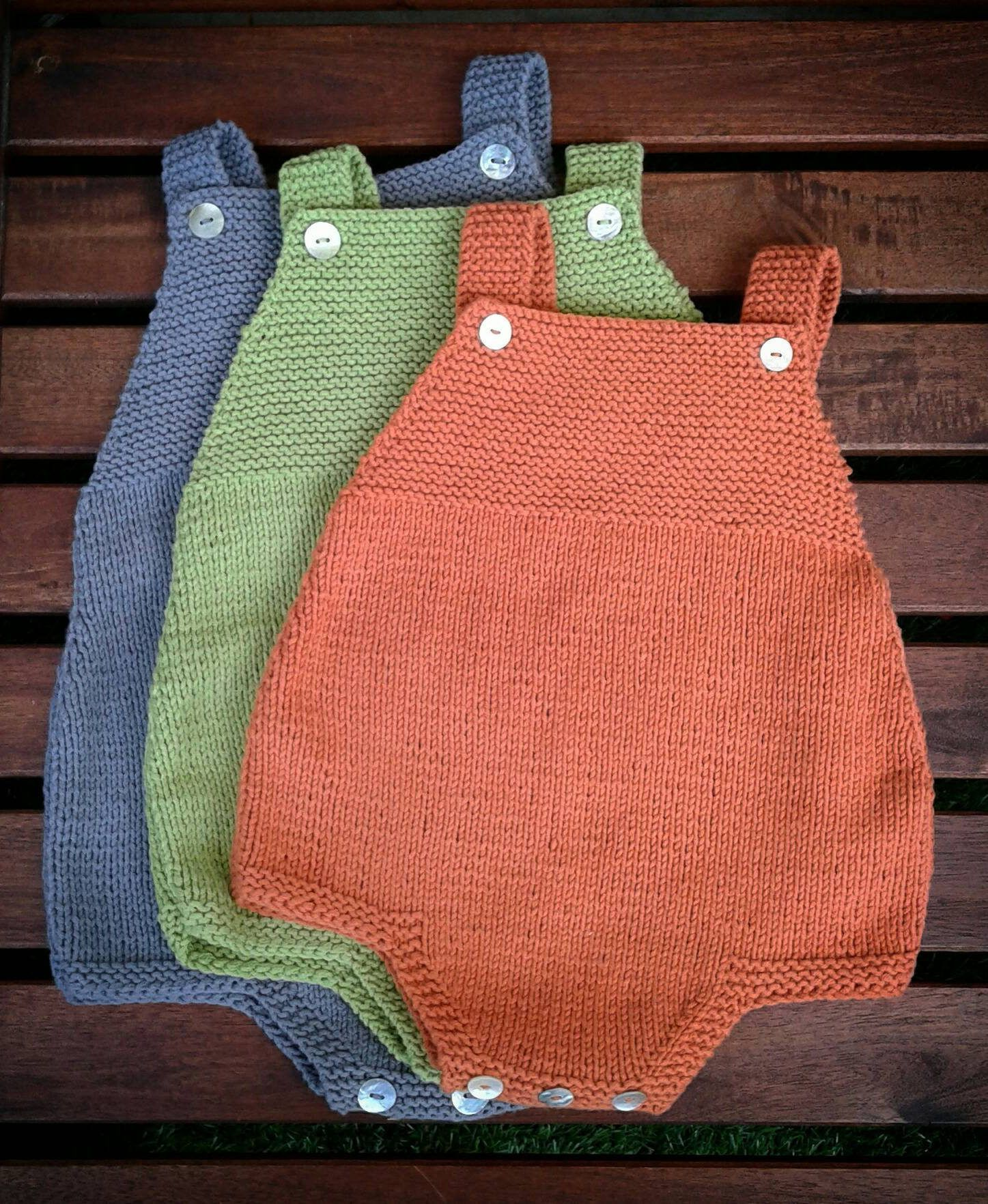 Knitting Pattern for Easy Duoro Baby Romper - Comfortable romper ...