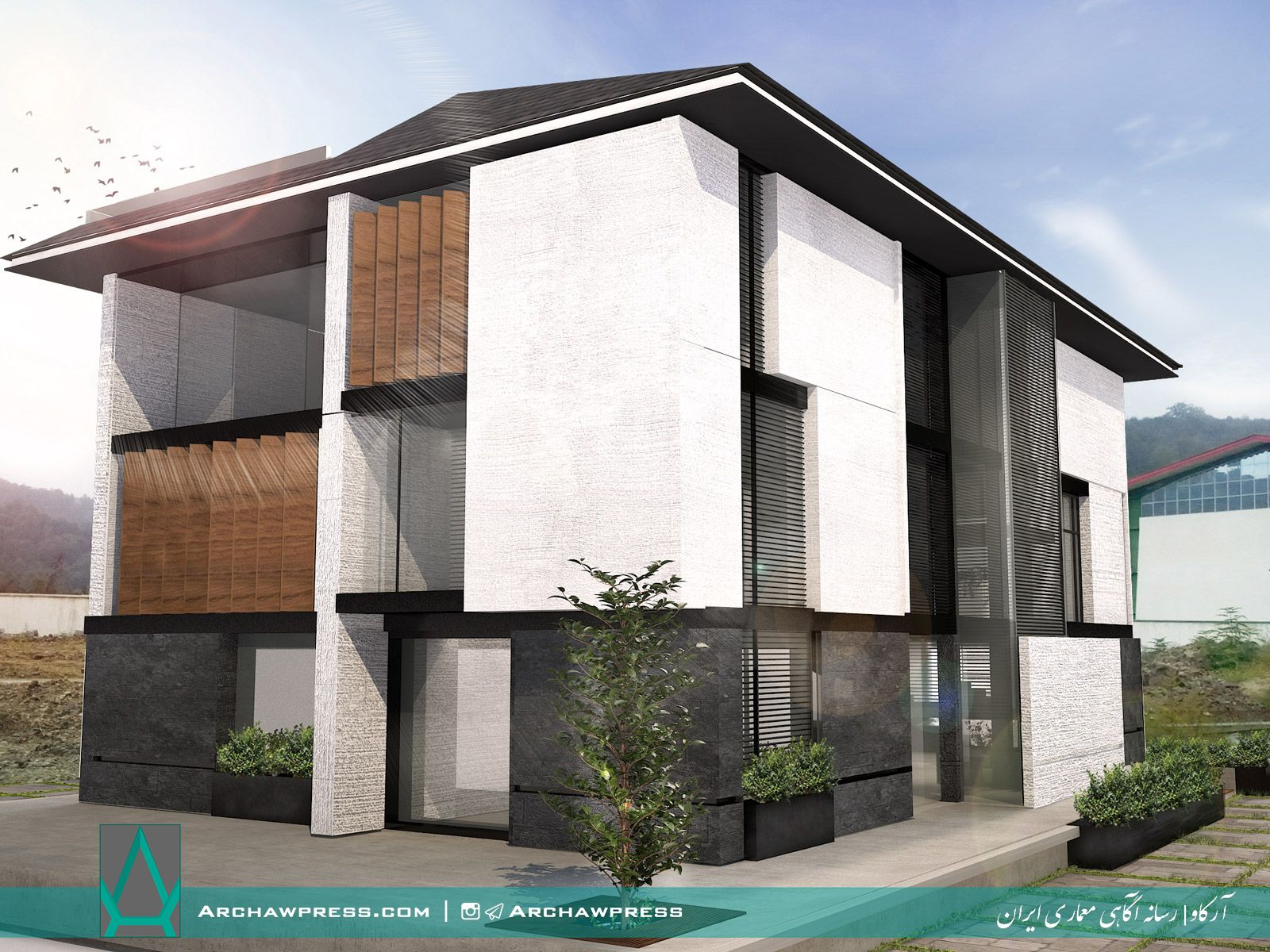 آرکاو | رسانه آگاهی معماری ایران منتشر کرد ساختمان اداری آستارا