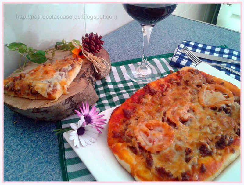 Nati recetas caseras: PIZZA DE CARNE