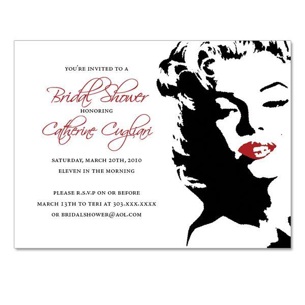 1286b22bb9eb Marilyn Monroe Themed Invitations