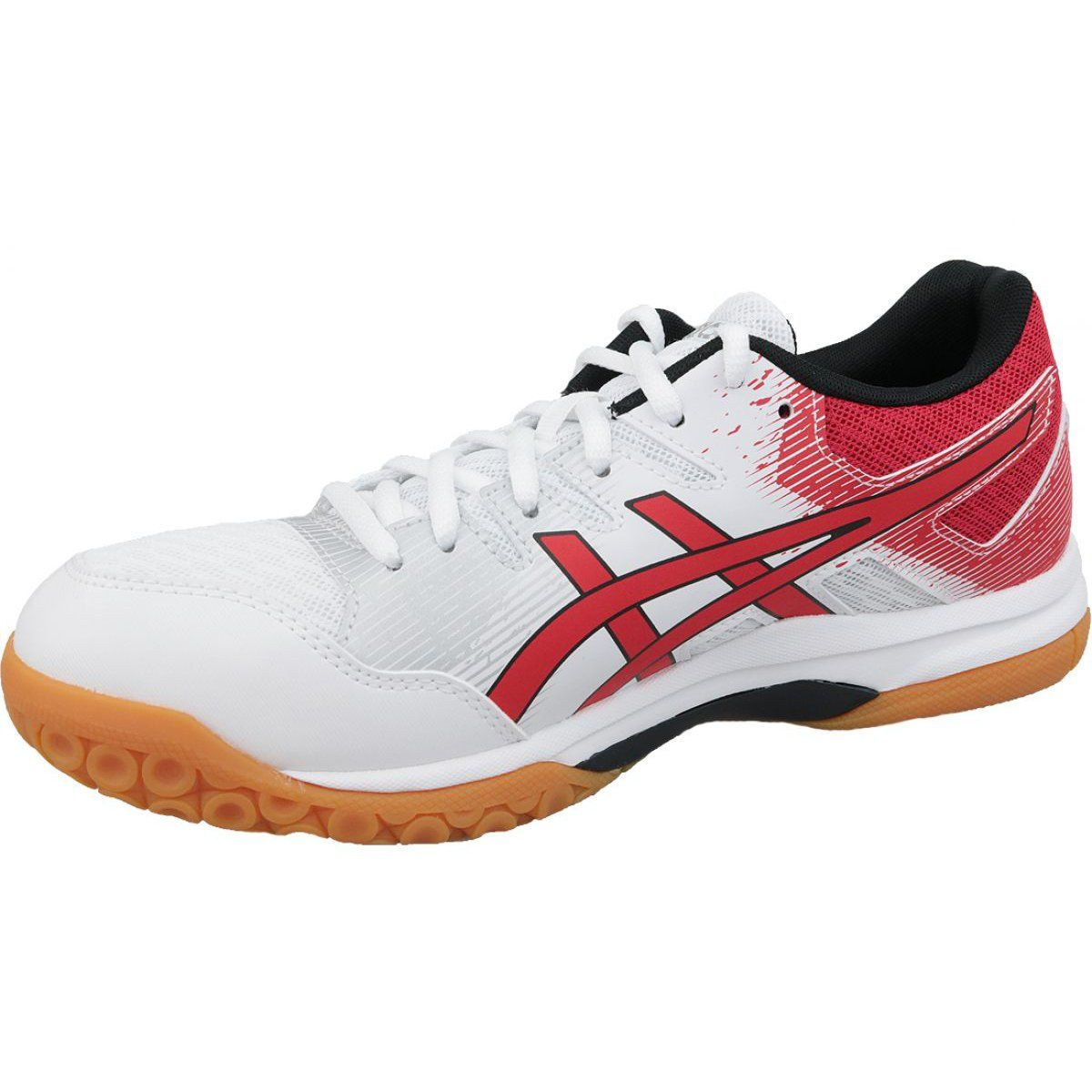 Buty Do Siatkowki Asics Gel Rocket 9 M 1071a030 101 Biale Biale Volleyball Shoes Asics Shoes