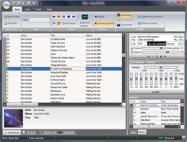 BBox, mucho más que un reproductor gratuito de audio para Windows