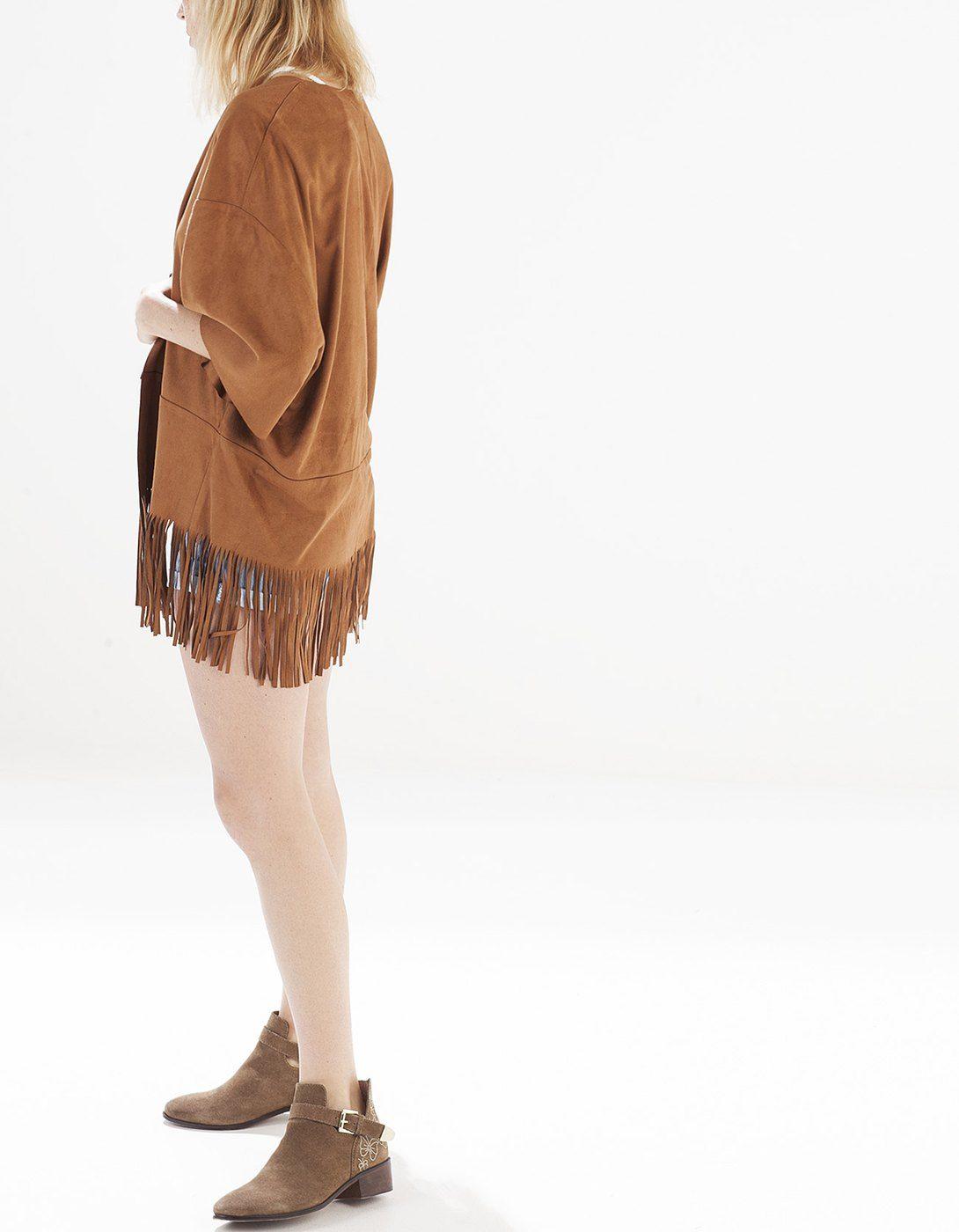 Kimono antelina con cinturón | moda | Pinterest | Cinturones