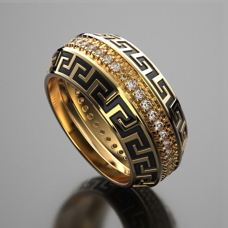 Versace mens wedding ring, wedding sets women rings
