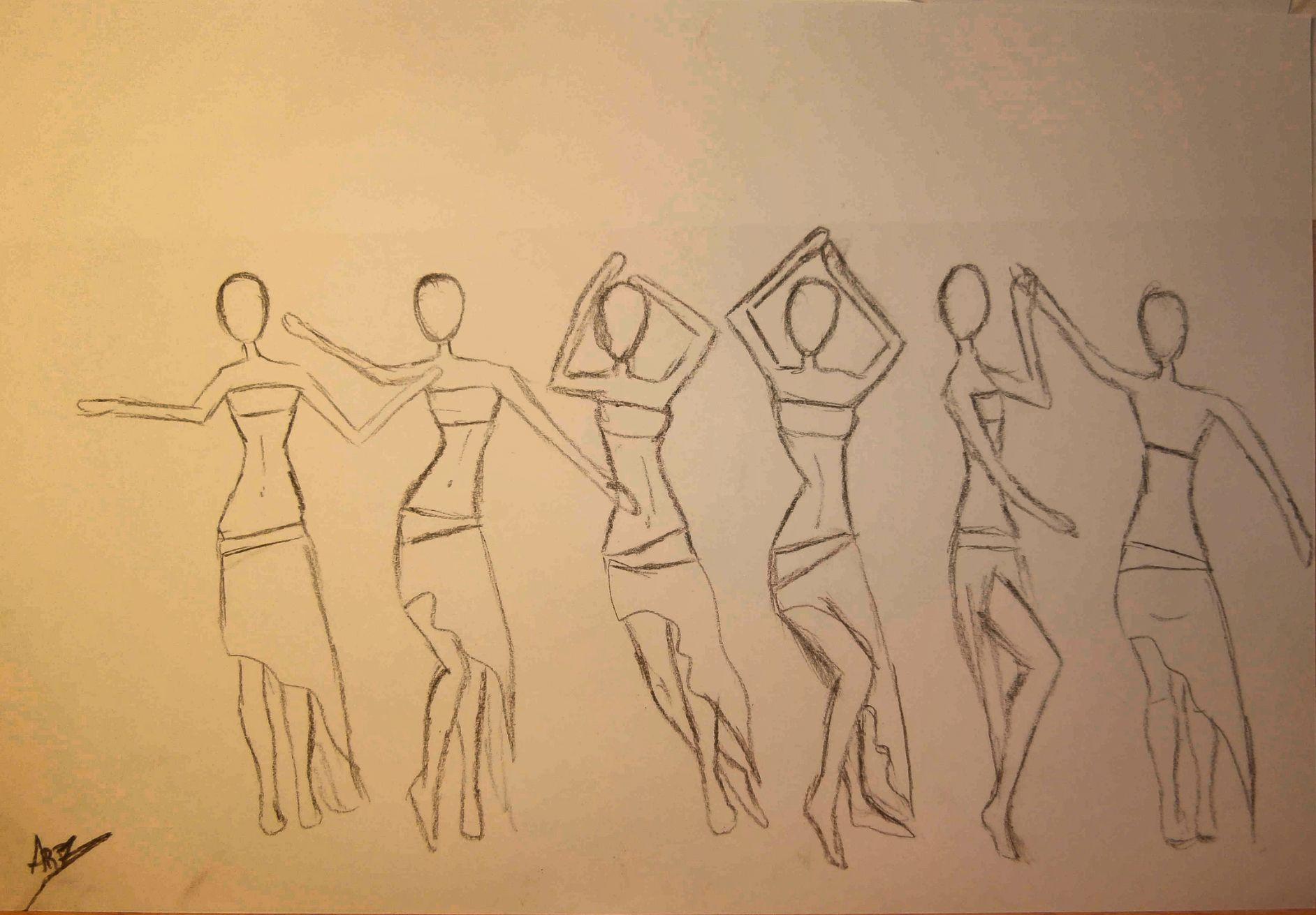 En Este Dibujo He Querido Representar Los Pasos Y Sobretodo Movimientos De Cadera Tan Caracteristicos De Este Baile Como Es La Danza De Art Male Sketch Male