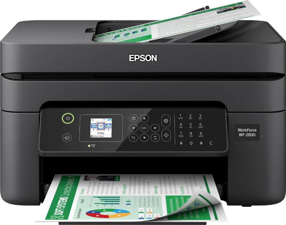 Epson Workforce Wf 2830 Wireless All In One Inkjet Printer Black