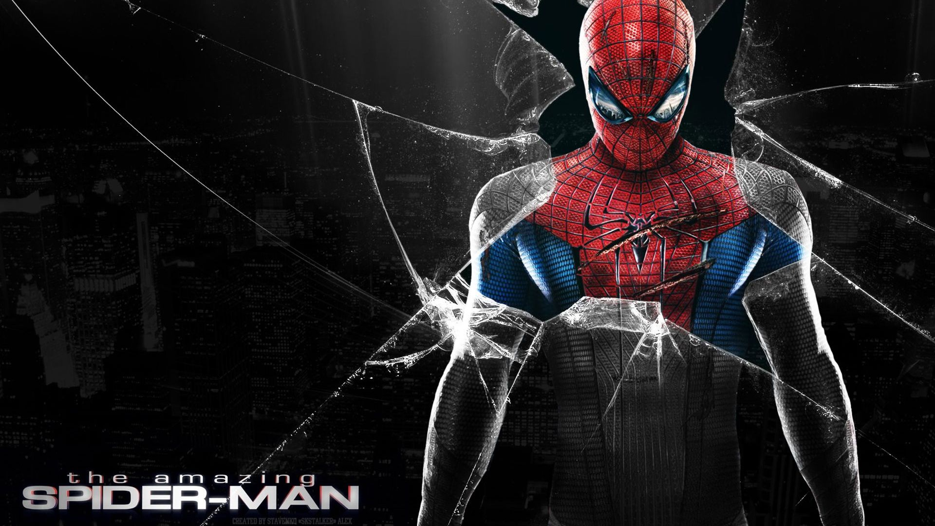 Hd The Amazing Spiderman Cracked Screen Wallpaper Full Size Spiderman Pictures Spiderman Amazing Spiderman
