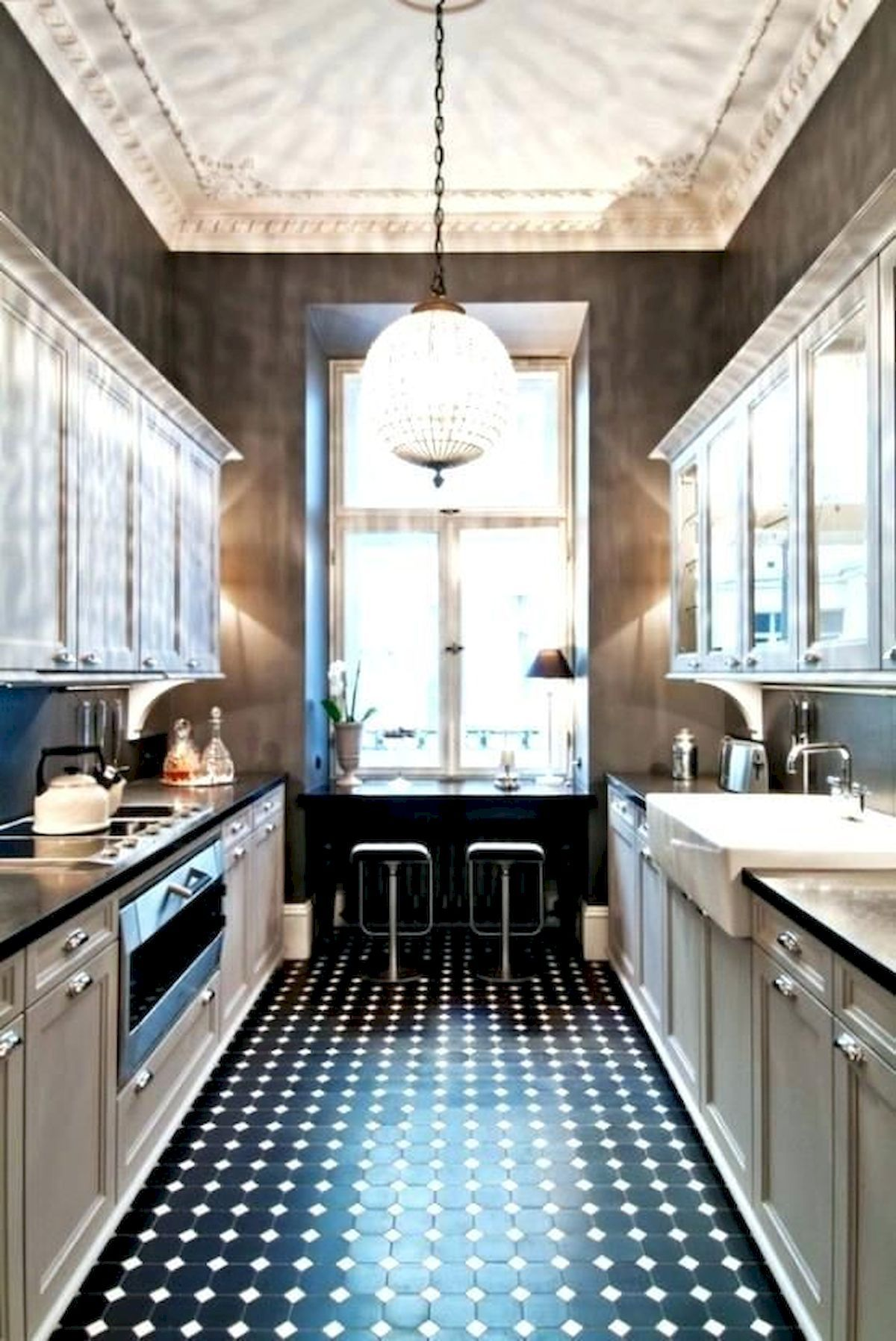 42 Awesome Tile Flooring Designs Ideas For Modern Kitchen in 2020 | Galley kitchen design ...