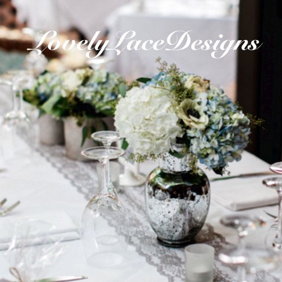 GREY WEDDINGS/ Gray Lace Table Runner, 5ft Long X 8in Wide/Lace Overlay