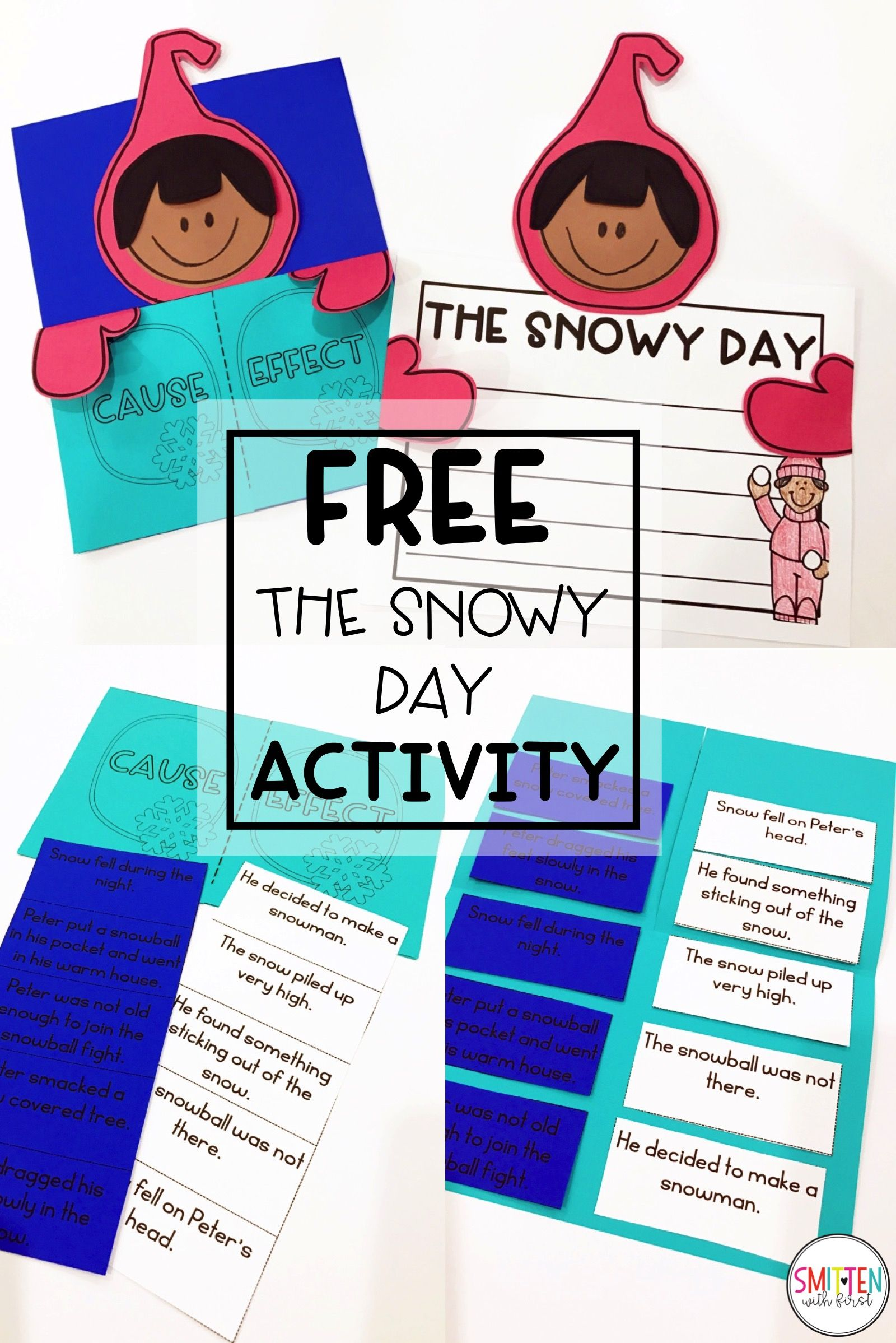 The Snowy Day Cause Amp Effect Flip Book And Craftivity