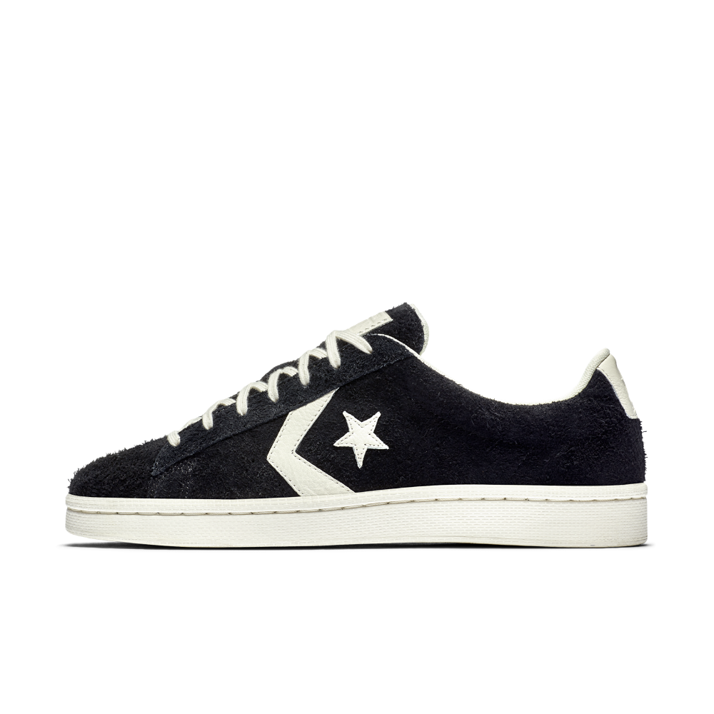 Converse One Star Low Pro Black Leather Mens Trainers