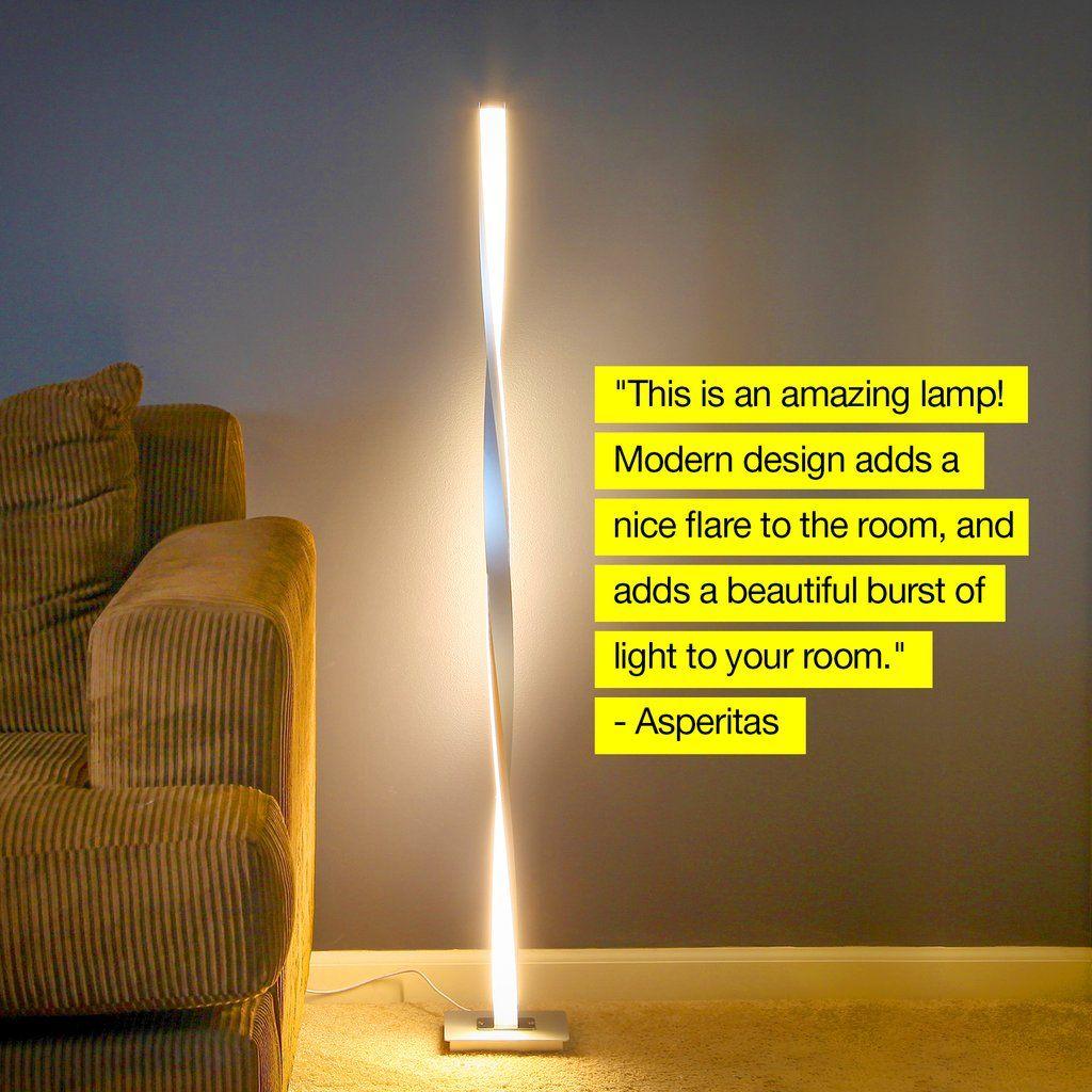Helix Led Floor Lamp Modern Arc Light Adjustable Tall Pole Standing Brightech In 2020 Led Floor Lamp Bright Floor Lamp Lamp