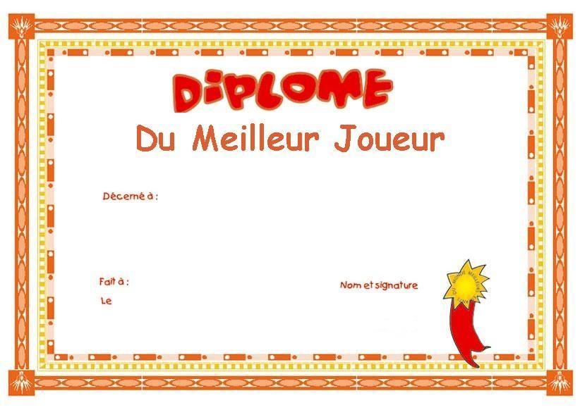 Diplome A Creer Et Imprimer Gratuit Diplome Diplome Gratuit A Imprimer