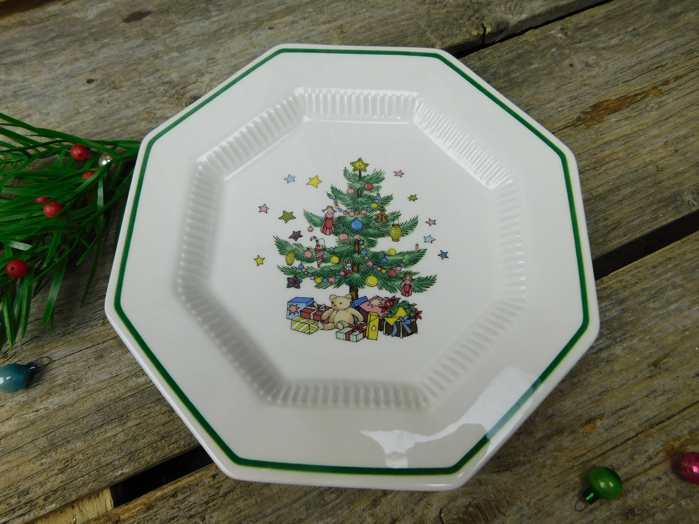 Set of 4 Vintage Nikko Christmastime Salad Plates - Christmas ...