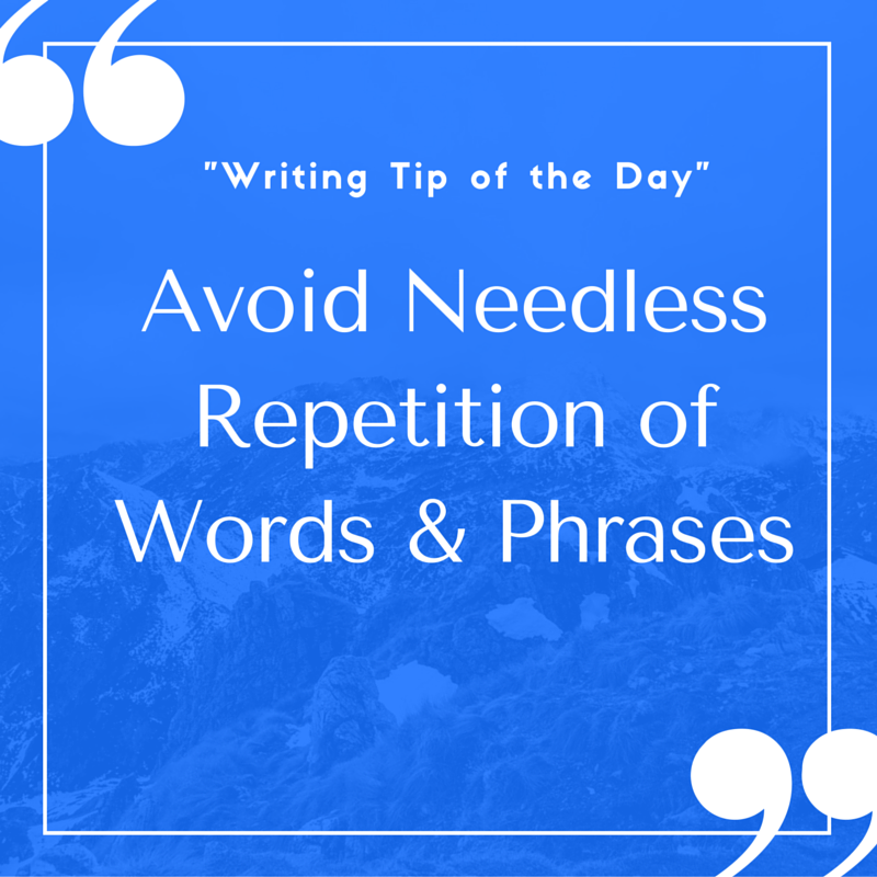 avoiding repetition in academic writing