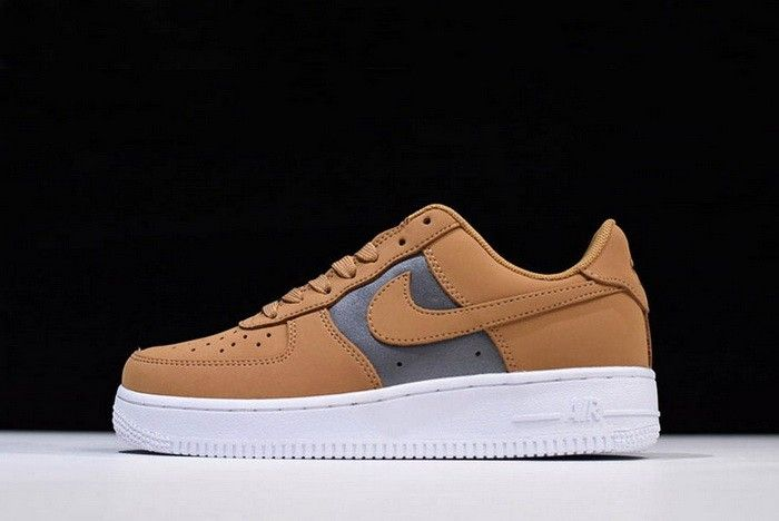 Mens and WMNS Nike Air Force 1 Low Bio Beige Metallic Silver
