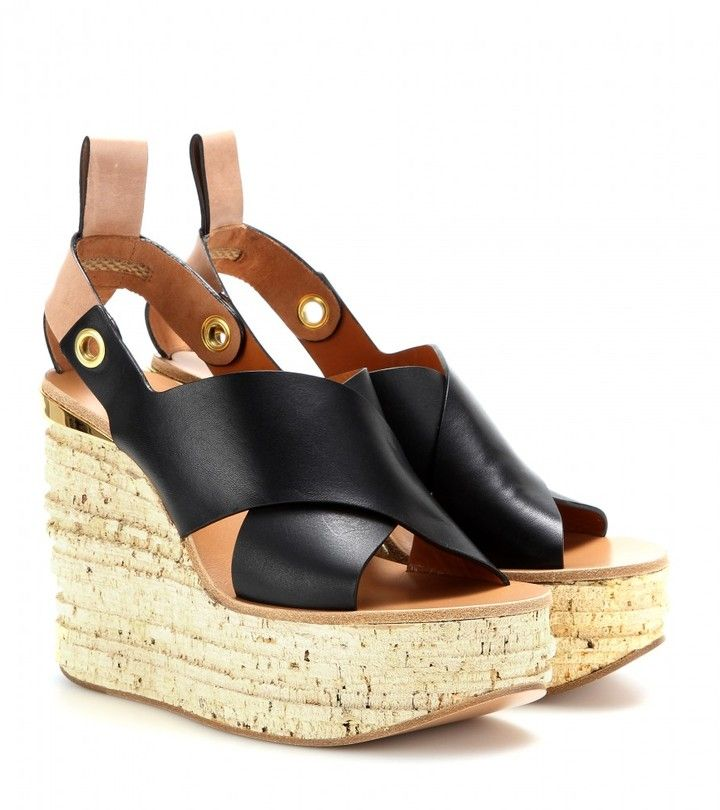 dae31debf2b Chloé Camille leather cork wedge sandals on shopstyle.com Ankle Strap  Sandals