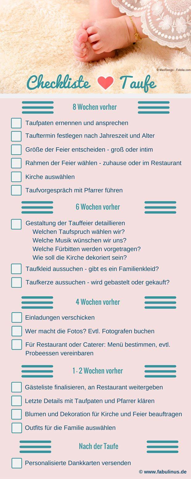 Checkliste Für Taufe   So Vergesst Ihr Nichts, Was Wichtig Ist.
