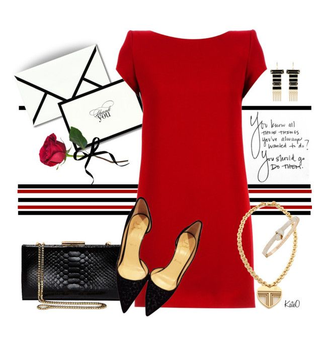 """""""Lovely Evening . . ."""" by kateo ❤ liked on Polyvore featuring Vera Wang, Yves Saint Laurent, Salvatore Ferragamo, Christian Louboutin, Forum, Carelle, Amrita Singh, Tory Burch and 6521"""