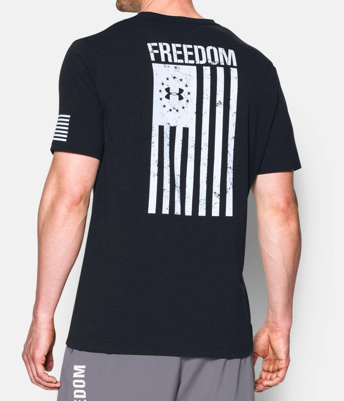 Men S Ua Freedom Flag T Shirt In 2021 Flag Tshirt Shirts Mens Tees