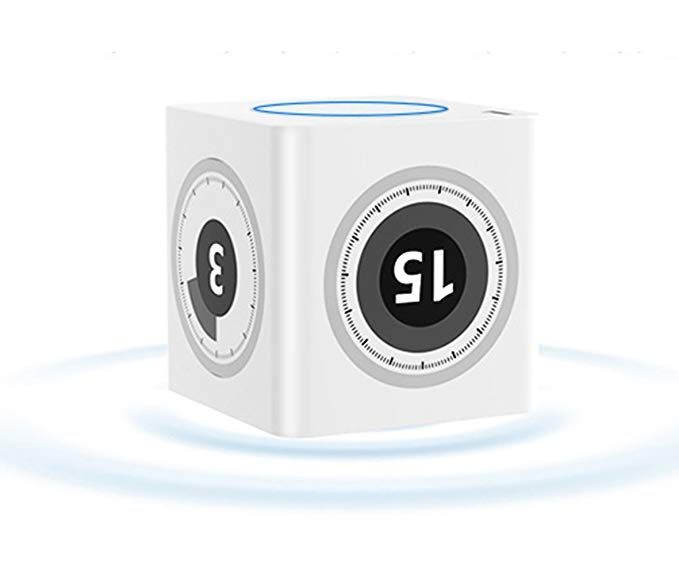 Mini Kitchen Timer,ABS Alarm Clock with USB Charger,1-75 Minutes